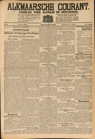 Alkmaarsche Courant 1934-06-25