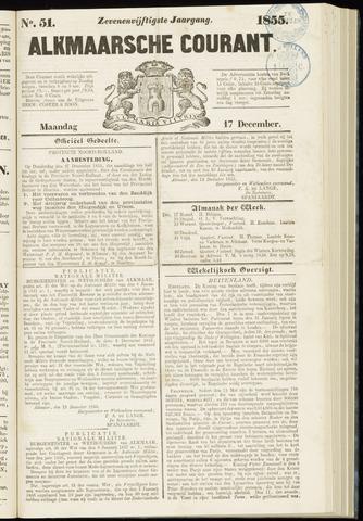 Alkmaarsche Courant 1855-12-17