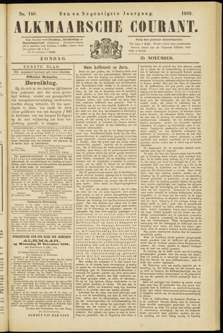 Alkmaarsche Courant 1889-11-24
