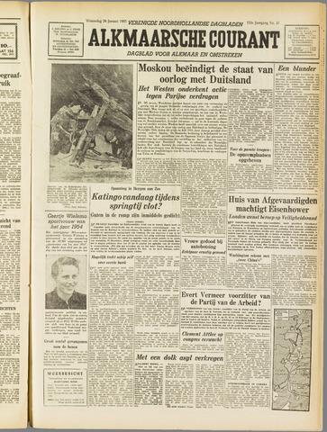 Alkmaarsche Courant 1955-01-26