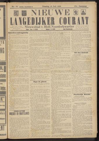 Nieuwe Langedijker Courant 1928-07-10