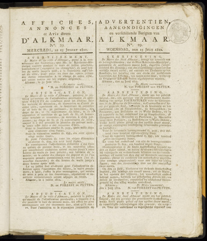 Alkmaarsche Courant 1812-07-15