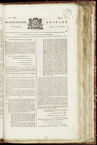 Alkmaarsche Courant 1819-10-11