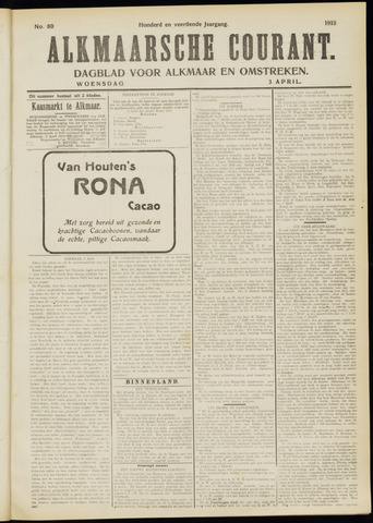 Alkmaarsche Courant 1912-04-03