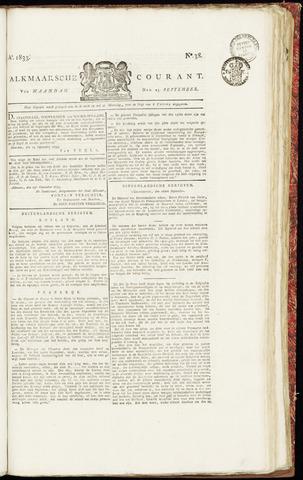 Alkmaarsche Courant 1833-09-23