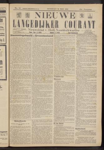 Nieuwe Langedijker Courant 1931-05-19