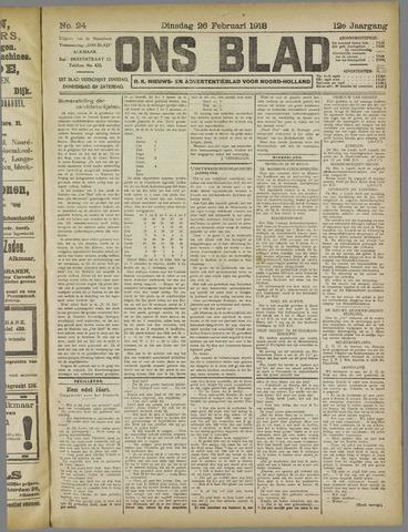 Ons Blad : katholiek nieuwsblad voor N-H 1918-02-26