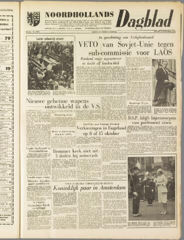 Noordhollands Dagblad : dagblad voor Alkmaar en omgeving 1959-09-08
