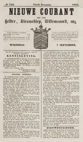 Nieuwe Courant van Den Helder 1864-09-07
