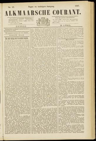 Alkmaarsche Courant 1887-04-24