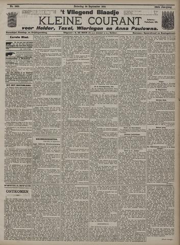 Vliegend blaadje : nieuws- en advertentiebode voor Den Helder 1910-09-24