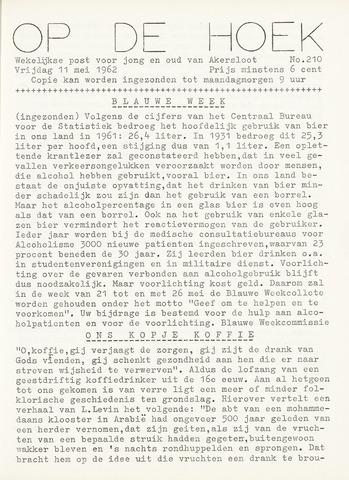 Op De Hoek, weekblad voor Akersloot 1962-05-11
