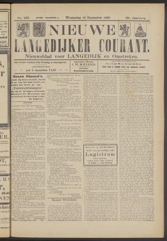 Nieuwe Langedijker Courant 1920-12-15