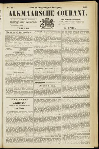 Alkmaarsche Courant 1892-04-22