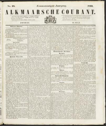 Alkmaarsche Courant 1869-07-11