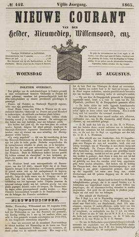 Nieuwe Courant van Den Helder 1865-08-23