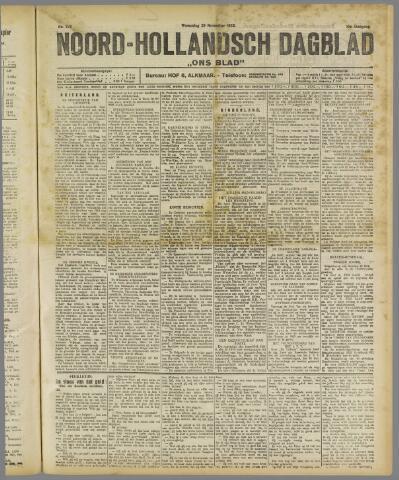 Ons Blad : katholiek nieuwsblad voor N-H 1922-11-29