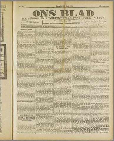 Ons Blad : katholiek nieuwsblad voor N-H 1920-07-13