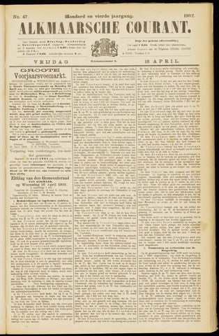 Alkmaarsche Courant 1902-04-18