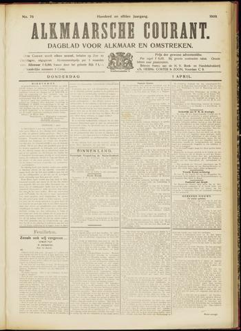 Alkmaarsche Courant 1909-04-01
