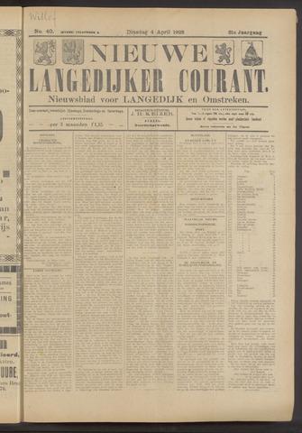 Nieuwe Langedijker Courant 1922-04-04