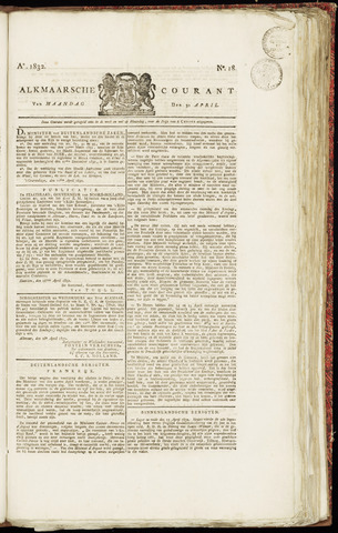 Alkmaarsche Courant 1832-04-30