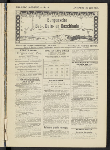 Bergensche bad-, duin- en boschbode 1921-06-25