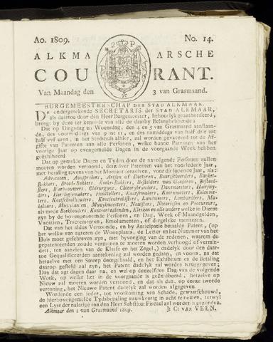 Alkmaarsche Courant 1809-04-03