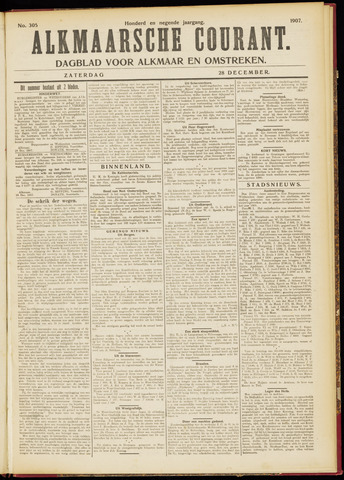 Alkmaarsche Courant 1907-12-28