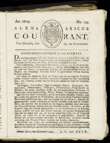 Alkmaarsche Courant 1809-05-15