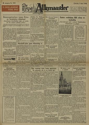 De Vrije Alkmaarder 1948-04-03