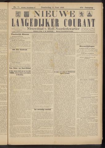 Nieuwe Langedijker Courant 1928-06-21
