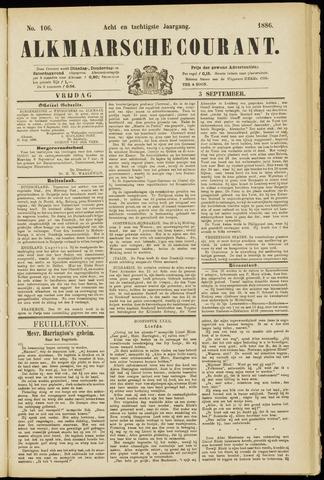 Alkmaarsche Courant 1886-09-03