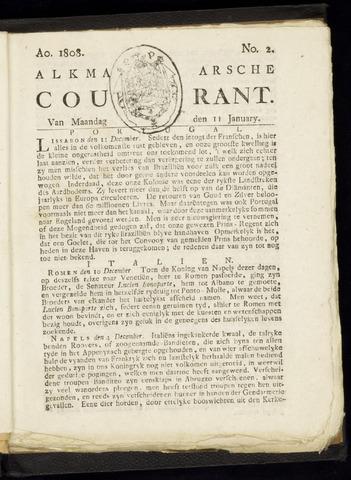 Alkmaarsche Courant 1808-01-11