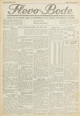 Flevo-bode: nieuwsblad voor Wieringen-Wieringermeer 1949-03-05