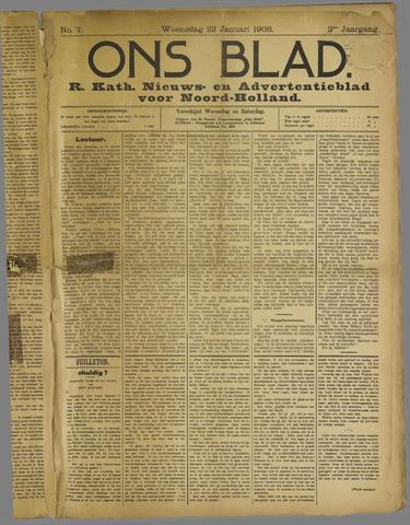 Ons Blad : katholiek nieuwsblad voor N-H 1908-01-22