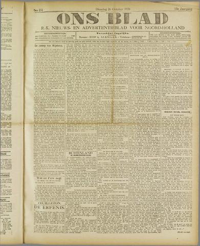 Ons Blad : katholiek nieuwsblad voor N-H 1920-10-26