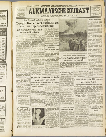 Alkmaarsche Courant 1955-02-11