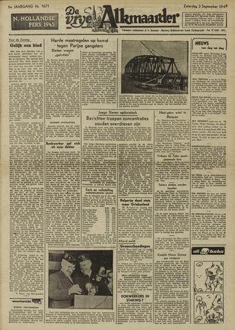 De Vrije Alkmaarder 1949-09-03