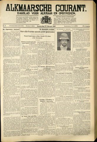 Alkmaarsche Courant 1937-02-25