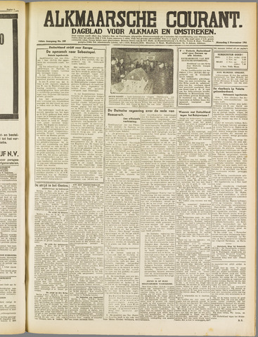 Alkmaarsche Courant 1941-11-03