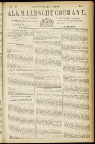 Alkmaarsche Courant 1885-09-11
