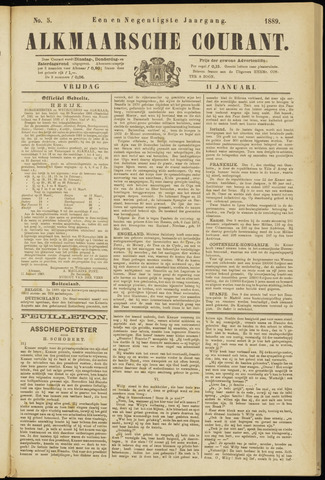 Alkmaarsche Courant 1889-01-11