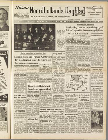Nieuw Noordhollandsch Dagblad : voor Alkmaar en omgeving 1949-12-10