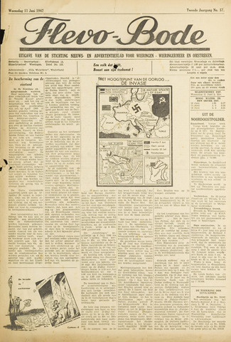Flevo-bode: nieuwsblad voor Wieringen-Wieringermeer 1947-06-11