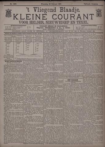 Vliegend blaadje : nieuws- en advertentiebode voor Den Helder 1887-02-23