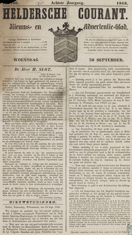Heldersche Courant 1868-09-30