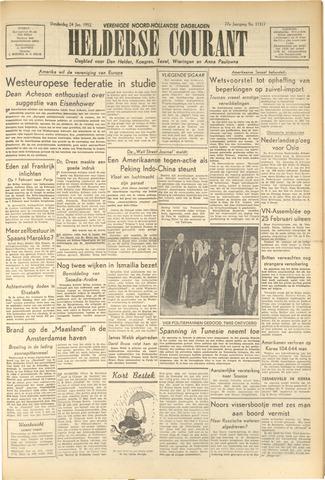 Heldersche Courant 1952-01-24