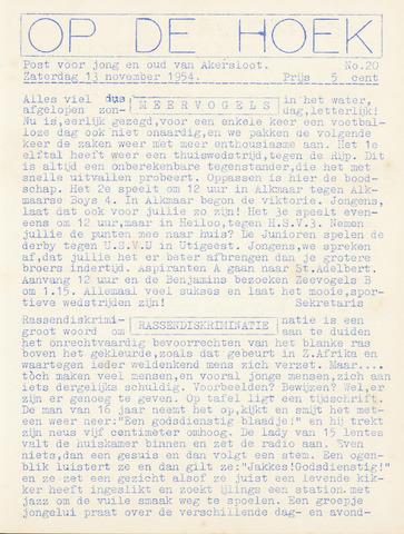 Op De Hoek, weekblad voor Akersloot 1954-11-13