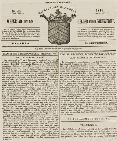 Weekblad van Den Helder en het Nieuwediep 1844-09-30